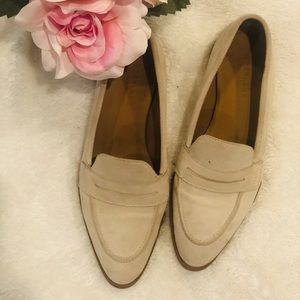 Cream suede everlane loafers size 7.5